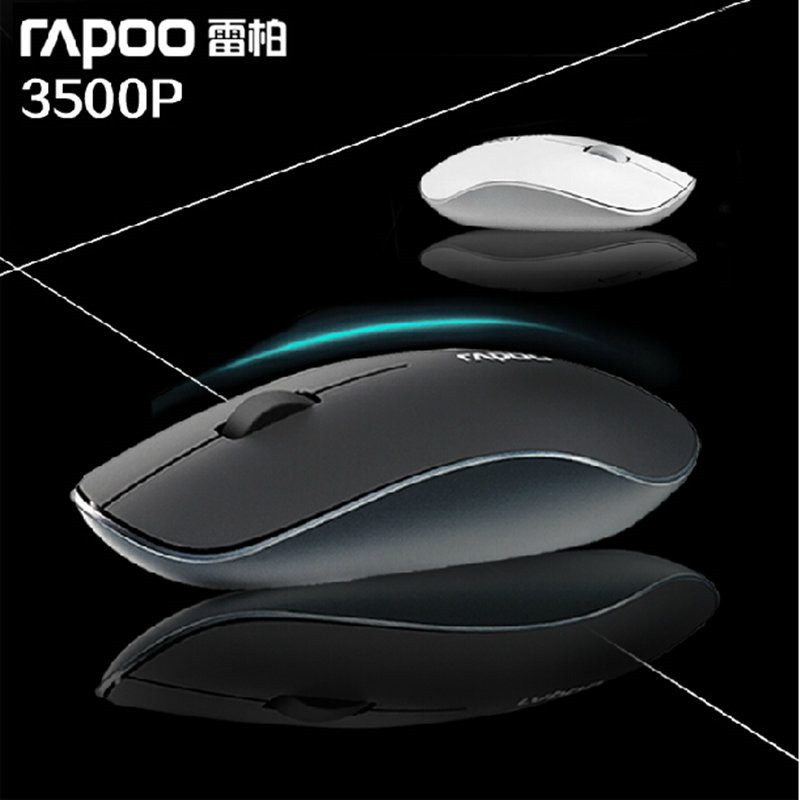 100% Original Rapoo 3500P Ultra-thin Wireless Mouse Laptop Hindchnnel  Mouse