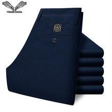 VISADA JAUNA мужские брюки бизнес популярные повседневные длинные брюки прямые однотонные облегающие новые поступления мужские брюки N1063