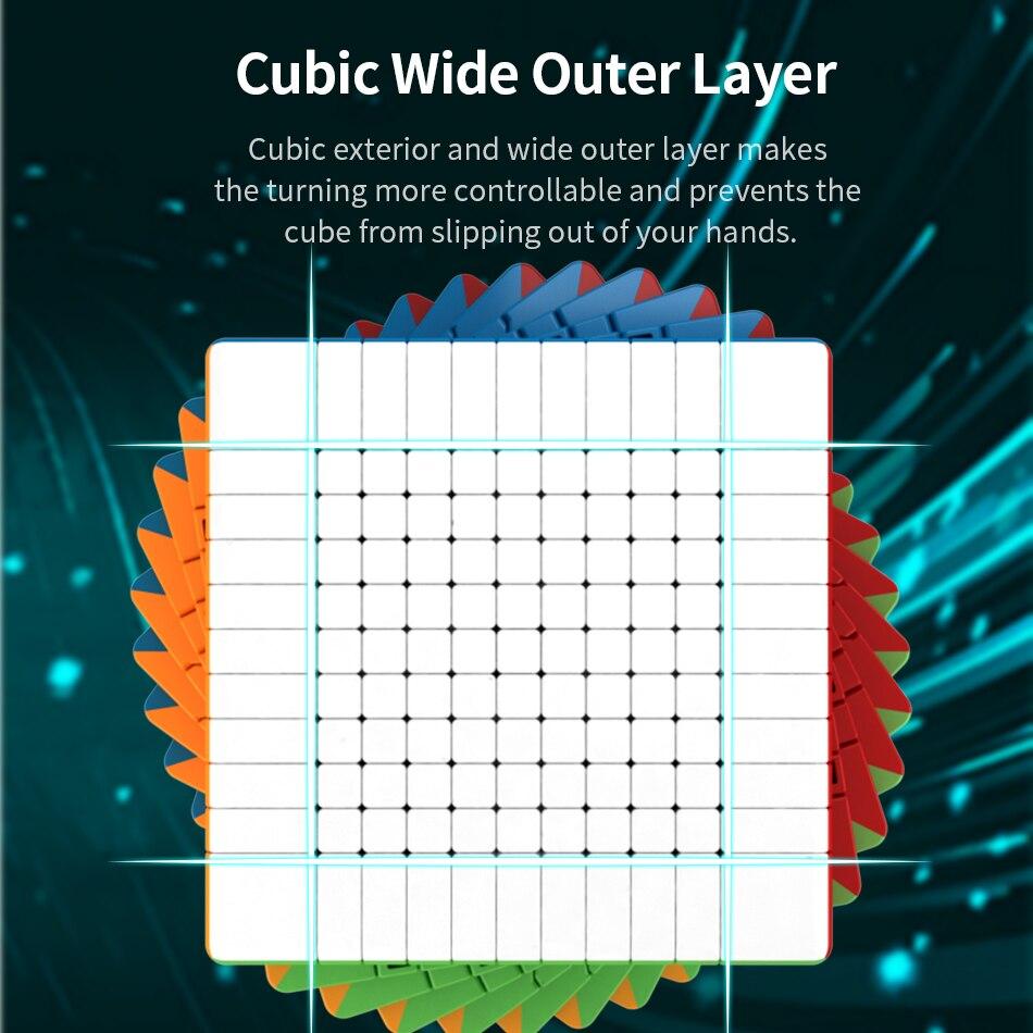 Découpe salle de classe magique cubo puzzle MoYu Meilong 10x10x10 11x11x11 haut niveau Cube de vitesse 11x1110x10 jouets éducatifs professionnels - 2