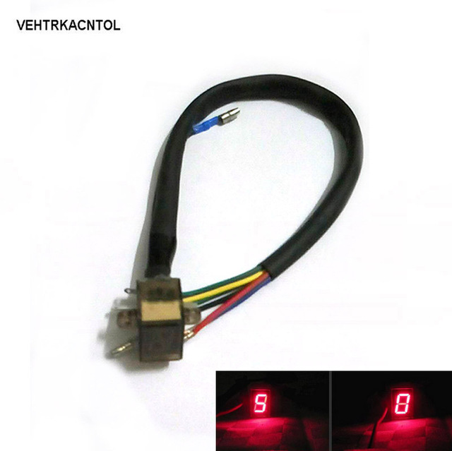 VEHTRKACNTOL New Led Light Digital Shift Gear Indicator Motorcycle Gear  Level Indicator N 6 Display