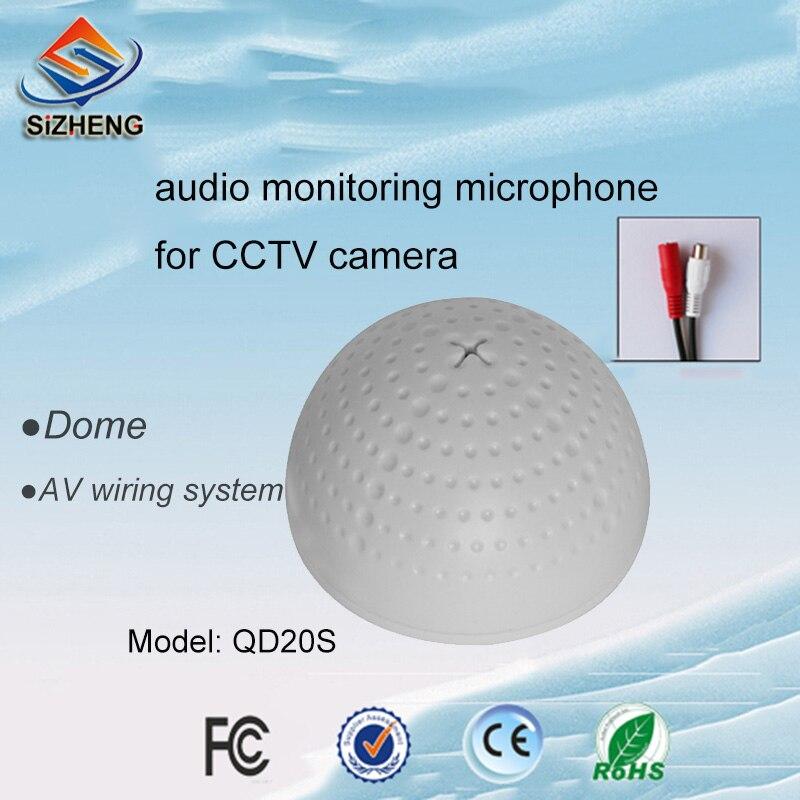 SIZHENG COTT-QD20S PVC Ajustável CCTV microfone de áudio som pick up microfone sensível para o sistema de câmera de segurança