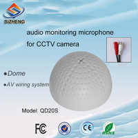 SIZHENG COTT-QD20S Adjustable PVC CCTV audio microphone sound pick up sensitive mic for security camera system