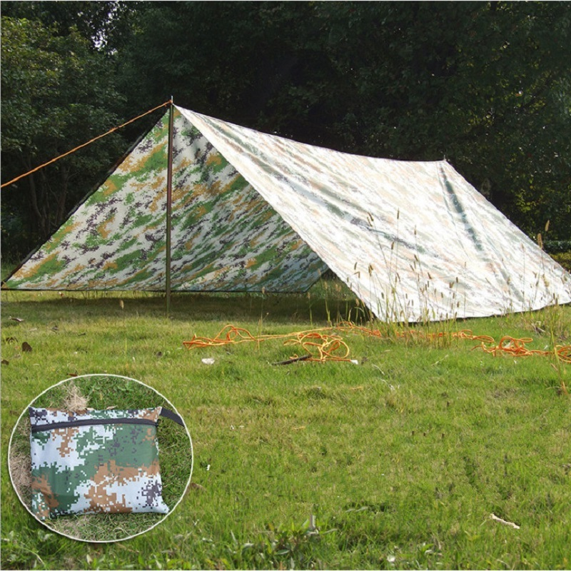 Outdoor camping tent sun shelter Simple Tent camping mat ground mat camouflage tent outdoor rainproof sun shade awing 3M*3M inflatable tent camping shelter camping tent sun shelter