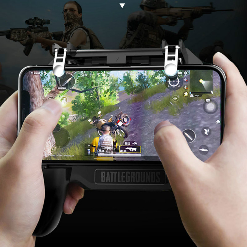 Image 5 - Pubg Controller Gamepad Pubg Mobile Trigger L1R1 Shooter Joystick Game Pad Phone Holder Cooler Fan with 2000/4000mAh Power Bank-in Gamepads from Consumer Electronics