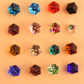 100 pcs Mix Glitter Cristal Cube Praça Nail Art Decoração Pedrinhas 3d Prego De Vidro Pedra 4mm DIY Beleza Da Arte Do Prego 3d Decortions