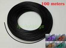 Черный волоконно-оптический кабель твердого волокна оптика + пвх покрытие для украшения открытый сад подводный свет ночи 2.2 мм х 100 м