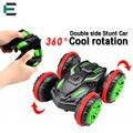 ET Rc vehículo anfibio de Doble Cara coche del Truco 1/18 Escala de 360 grados Girar Modelo de 2.4 Ghz de Control Remoto 4WD coche 333-SL01B