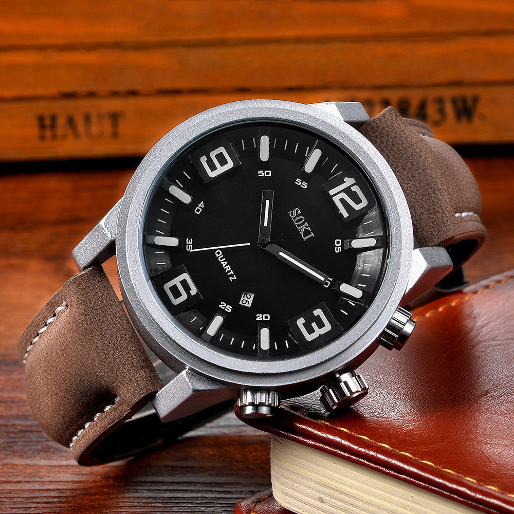 SOKI Men Wrist Watches Fashion Nylon strap Analog Quartz Round male clock men watches quartzo day date watch for manSOKI Men Wrist Watches Fashion Nylon strap Analog Quartz Round male clock men watches quartzo day date watch for man