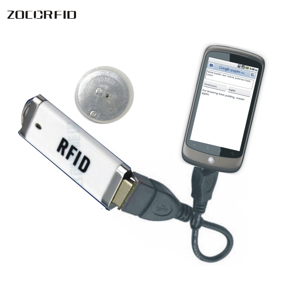 ISO15693 ICode 13.56KHZ Smart IC Card Reader for NFC ICodeII chips with USB NFC reader