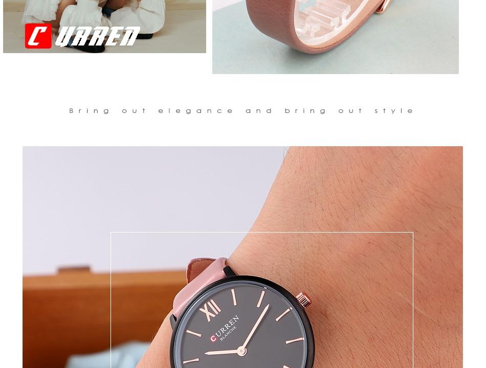 CURREN 9040 PU Leather Analog Watch 10