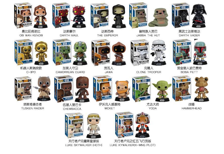 Aliexpress.com : Buy Disney 2016 NEW FUNKO POP Star Wars Action Toy ...