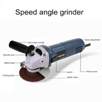 Variable Speed Angle Grinder M10 4/100mm Multi function Material Removal Electric Angle Grinder Grinding Machine Cut Off Tool