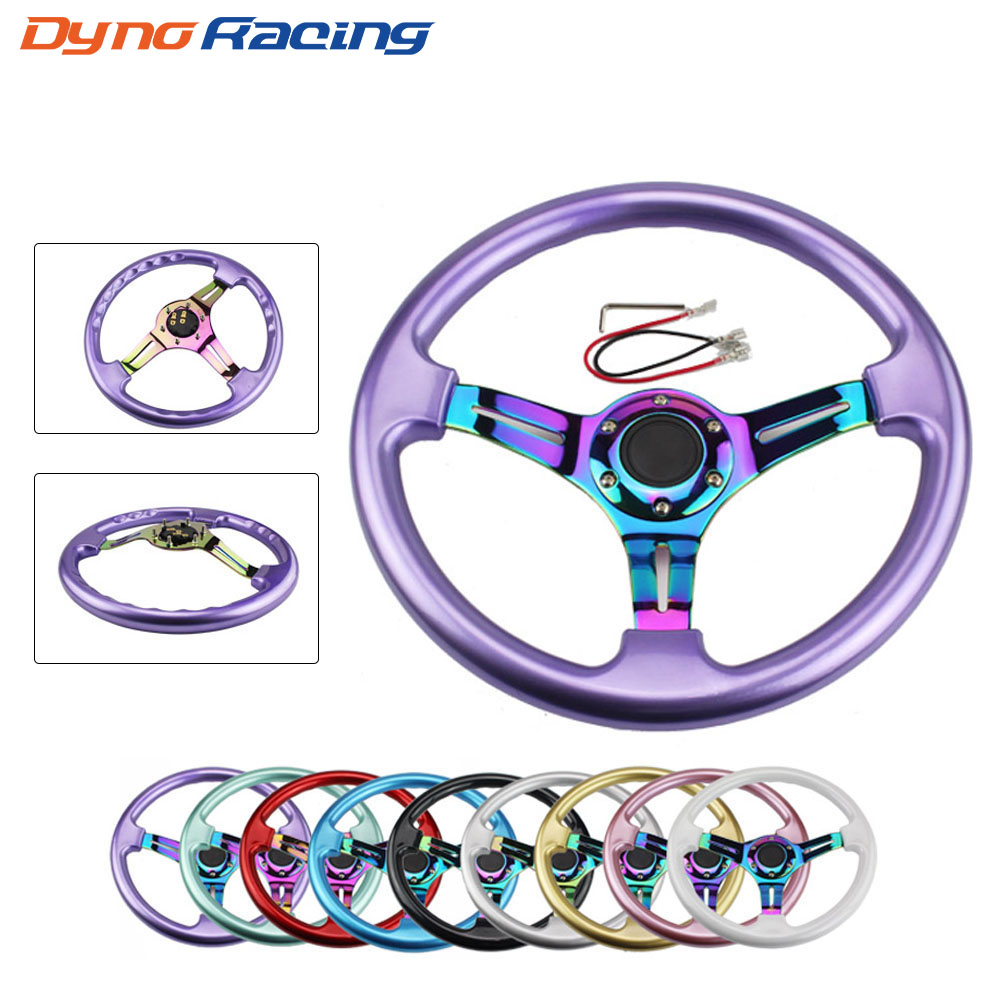 Neo Chrome New 350mm 14inch Steering Wheel ABS Steering Wheel
