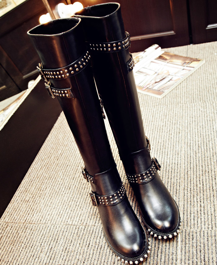 Compare Prices on Black Thigh High Studded Boots- Online Shopping