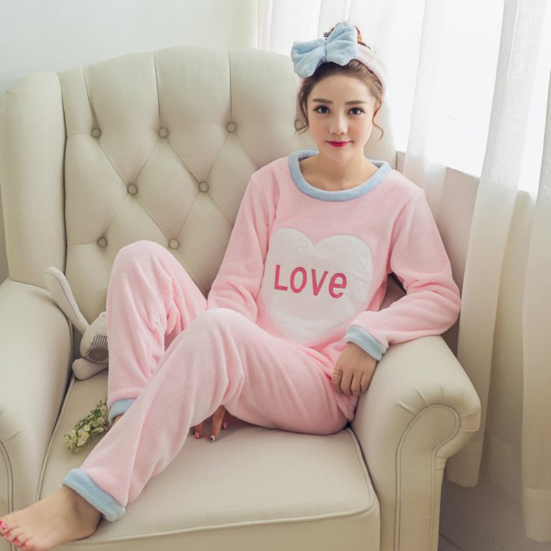 winter Pajamas Set for women ladies big size womens pajamas long sleeve comfortable home clothes night suits cute animals
