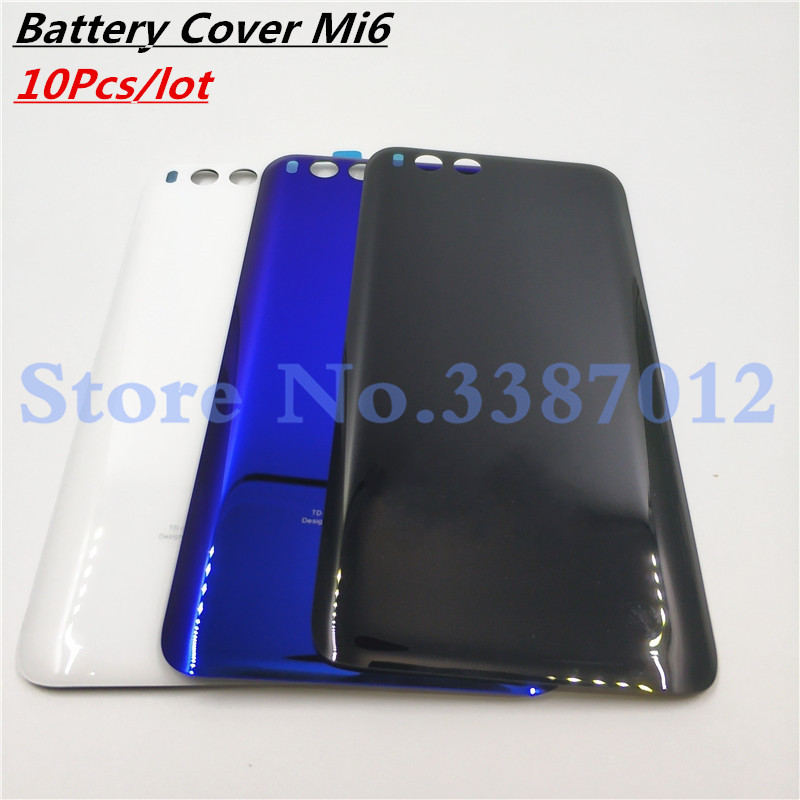 10Pcs/lot White Black Blue <font><b>Original</b></font> Rear Back Housing For <font><b>XIAOMI</b></font> <font><b>Mi6</b></font> Back <font><b>Cover</b></font> <font><b>Battery</b></font> Door For MI <font><b>Mi6</b></font> Replacement Parts image