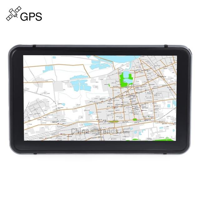 Nueva Pantalla Capacitiva de 7 pulgadas de Navegación GPS Del Coche Construido en FM 8 GB Mapa Camión vehículo gps Mueca de Dolor 6.0 de la Pantalla Táctil Con El Envío Navigator