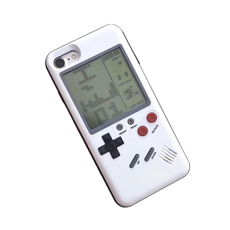 Único Multi Casos de Telefone Para O Iphone X 6 6 S 7 mais 8 8 Mais Casos de Proteção TPU Caso Tetris Game Console Aparência cobrir