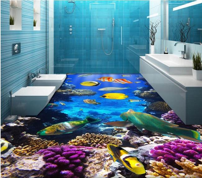 3d Stereoscopic Mural Wallpaper Custom Photo Floor Wallpaper 3d Stereoscopic Ocean World