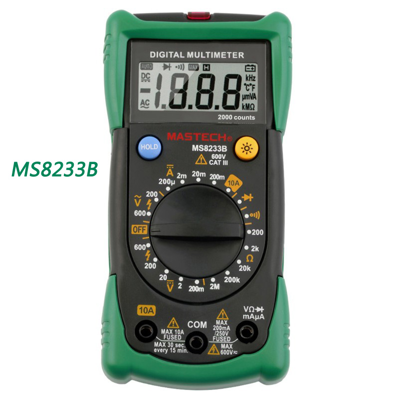 MASTECH MS8233B Digital Multimeter non-contact voltage measuring instrument detector with backlight free shipping