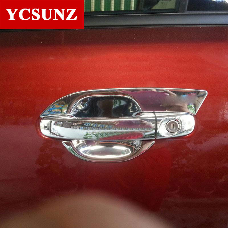 2017 For Ford Everest 2016 Accessories ABS Chrome Door Handle Inserts Parts Bowl Trim For FORD Everest 2016 New Suv Accessories