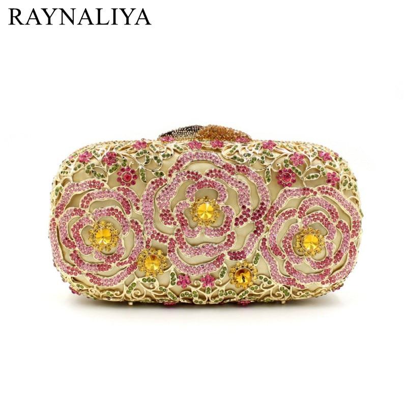 Women Crystal Clutch Minaudiere Handbag Rhinestones Evening Bags Clutches For Wedding Gold Party Diamond Purse SMYZH-E0368 цена
