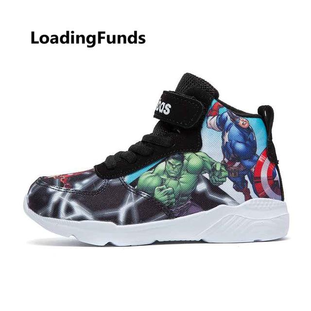 aa3330d86 Zapatillas de baloncesto para niños con fondos de carga zapatos para correr  los Vengadores zapatos de
