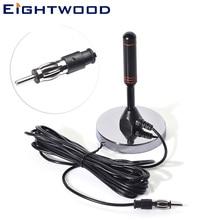 Eightwwood FM Радио Автомобильная антенна домашняя модификация CD плеер улучшенный сигнал Магнитный патрубок Тип 5 м кабель RG174 DIN 41585 разъем