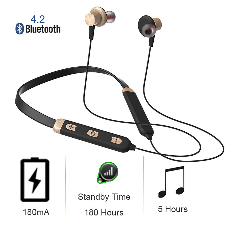 Bluetooth wireless Sport Earphone with Mic Super bass true bluetooth headphones Headset Stereo Earbuds Magnetic for Moblie phone