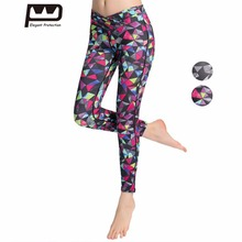ФОТО Women Yoga Running Fitness Sports Pants Leggings Geometric Patterns Printed  Elasticity  Soft Rainbow Design