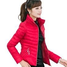 Новинка 2017 года casaco feminino Для женщин зимняя куртка Для женщин тонкий женские офисные Застёжки-молнии плюс Размеры дамы Пальто и пуховики jaquetas CC274