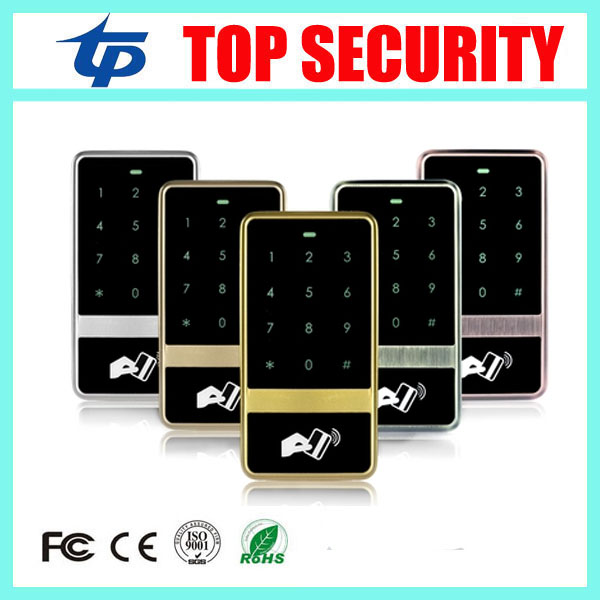 Standalone RFID card access control system touch waterproof keypad door access control reader EM card access controller rfid ip65 waterproof access control touch metal keypad standalone 125khz card reader for door access control system 8000 users