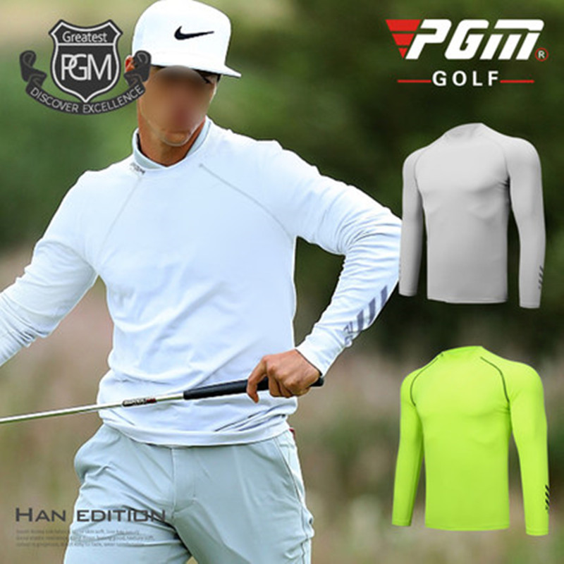 PGM summer new golf mens clothing bottoming shirt quick-drying breathable match with ice wire bottoming shirt