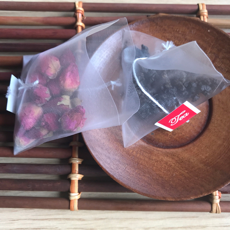 Us 56 0 New Pla Biodegraded Material Corn Fiber Mesh Tea Bag Filters Pyramid Shape Heat Seal Bags 1000 Lot Customized Logo In Disposable