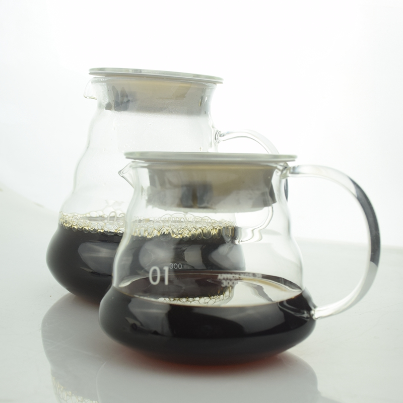1pc High Quality Coffee Server Glass Coffee Pot 360ml 580ml 780ml Percolators Eco-friendly Stocked Sale