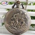 A guerra hero presente retro moda quartzo relógio de bolso carga ms. mesa masculino ds149