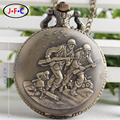 The war hero retro fashion gift quartz pocket watch charge Ms. male table DS149