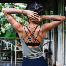 Fitness Women Breathable Yoga Top Gym Workout Tank Top Sexy Backless Sport T Shirt Women Running Shirt Sport Crop Top(China)