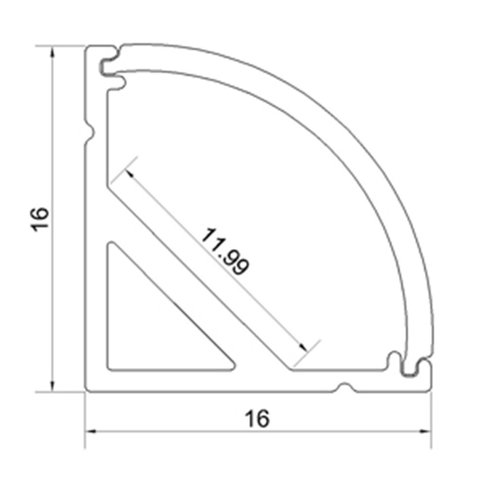 10M / lot 10X1M (3,3ft) қара V-пішінді қисық - LED Жарықтандыру - фото 5