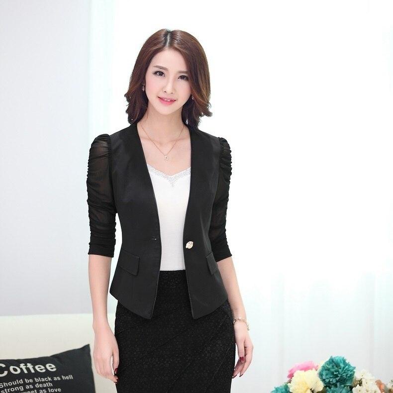 483783b8875d Spring Summer Fashion White Blazer Women Outerwear Jackets Slim Black  Blazer Feminino Blaser Ladies Work Wear Uniforms-in Blazers from Women s  Clothing on ...