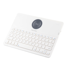 Wireless charging keyboard Bluetooth 3.0 keyboard 7 color backlight can provide smart tablet protective case цена и фото