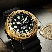 San Martin SBBN015 Men นาฬิกาแฟชั่นนาฬิกา Bronze ดำน้ำนาฬิกา Bronze เกราะ 300 M กันน้ำ NH36 MOVT นาฬิกาข้อมือ