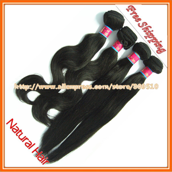 Hair Ring DHL Free Shipping, 3pcs/lot Same/Mixed Length 14-28 inch,  Remy Brazilian Hair Extension, 1b#, 2#, 4# Straight Hair