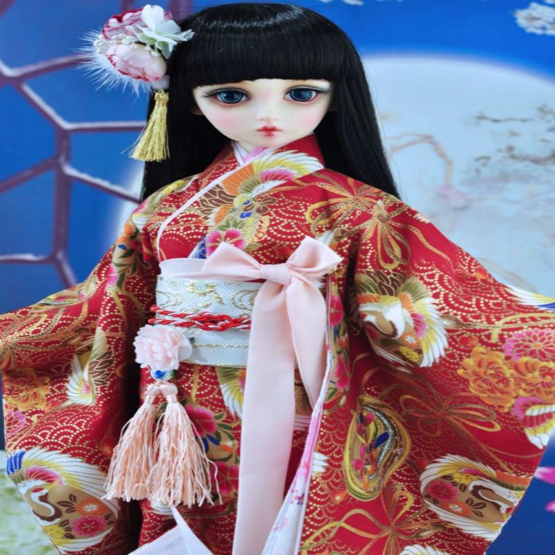 1/3 SD DD BJD costume vibration sleeve kimono chic v neck 3 4 sleeve geometrical print women s kimono