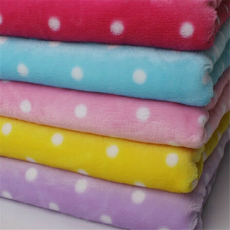 150cm *100cm super soft flannel fabric 11 colors avrilable ...