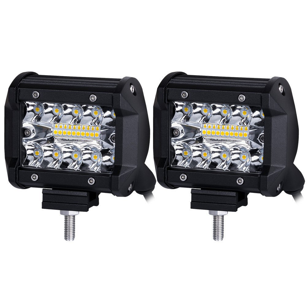 2PCS 4 Inch LED Bar LED Work Light Bar For Driving Offroad Boat Car Tractor Truck 4x4 SUV ATV 12V 24V Rated 60W