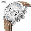 JEDIR Relogio masculino Marca de Luxo Relógios Homens Relógios Multifunções Relógio de Quartzo 30 M À Prova D' Água relógio de Pulso de Couro Genuíno