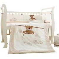 9Pcs Cotton Baby Cot Bedding Set Newborn Crib Bedding Detachable Quilt Pillow Bumpers Sheet Cot Bed Linen 4 Size