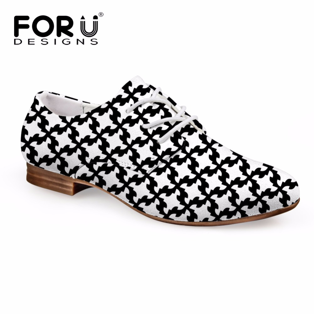 FORUDESIGNS 2018 Women Flats Fashion Autumn Oxford Shoes Casual Leather Shoes for Ladies Bussiness Lace Up Shoes Woman Oxfords цена