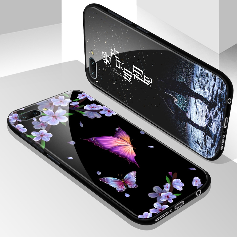 Tempered Glass Case for Huawei Honor 10 Full Cover with Screen Protection Film